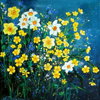 Spring Flowerscape 1 Card
