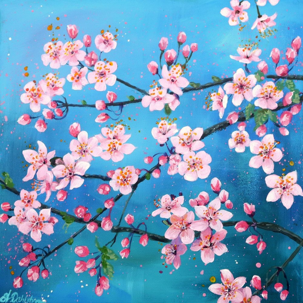 Spring Flowerscape 2 Card