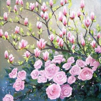 Spring Flowerscape 4 Card