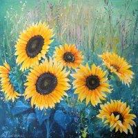 Flowerscape 9- Sunflowers