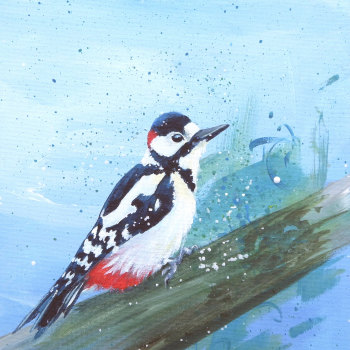 Woodpecker Mini Print