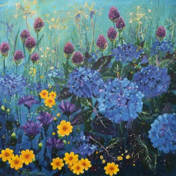 Flowerscape 10- Hydrangeas Card
