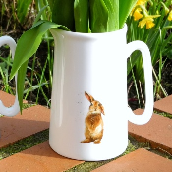 Hot Cross Bunny- Medium 1 Pint Jug