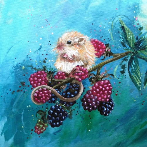 Harvest Mouse Mini Print