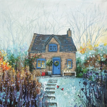 Christmas Cottage Mini Print