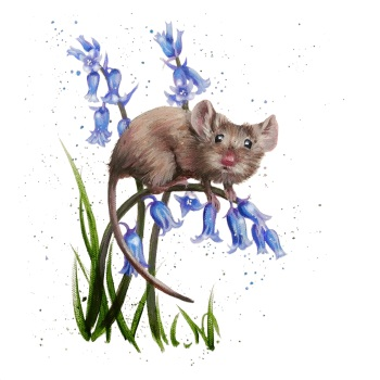 Bluebell Mouse Card