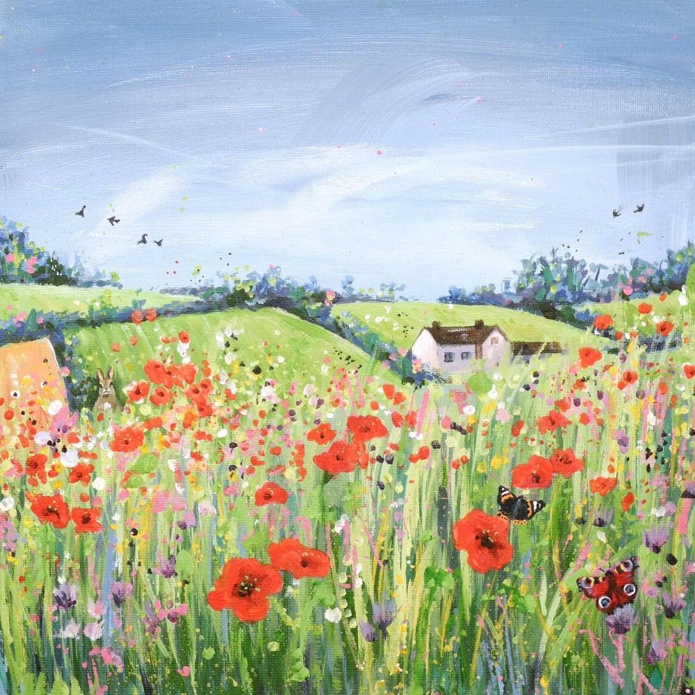 Cotswold Poppies Mini Print