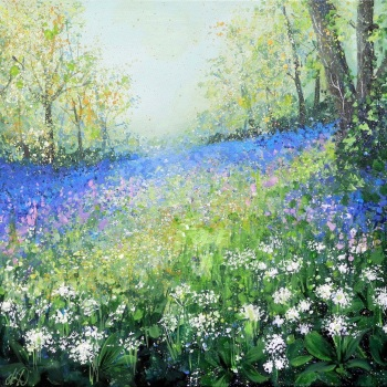 SPRINGSCAPE- Bluebells and Wild Garlic Wood PRINT