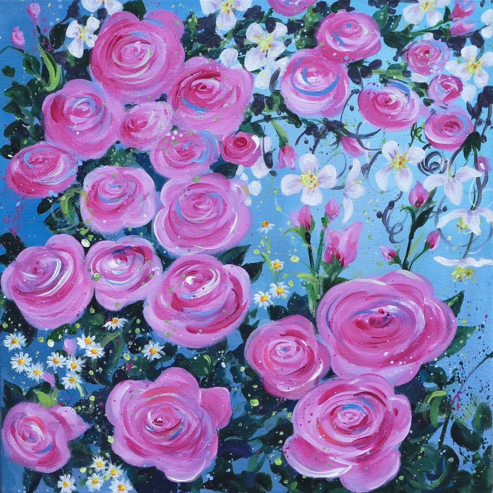 Flowerscape 11- Roses CARD