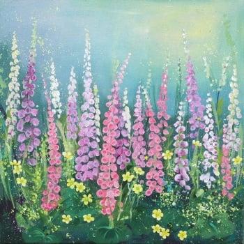 Flowerscape 12- Foxgloves CARD
