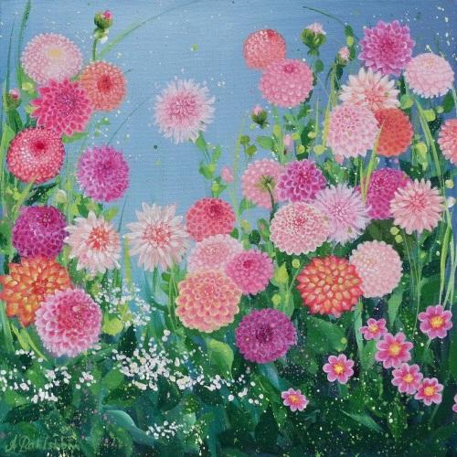Flowerscape 13- Dahlias CARD