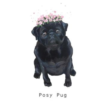 Posy Pug CARD
