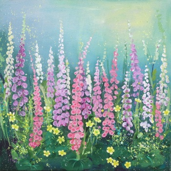 Flowerscape 12- Foxgloves PRINT