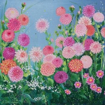 Flowerscape 13- Dahlias PRINT