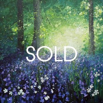 SOLD- SPRINGSCAPE- Badbury Bluebells
