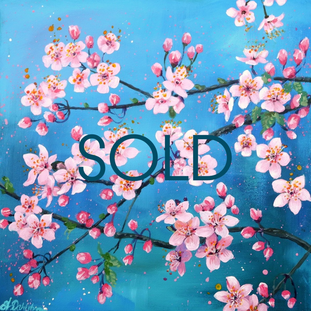 SOLD- Spring Flowerscape No. 2