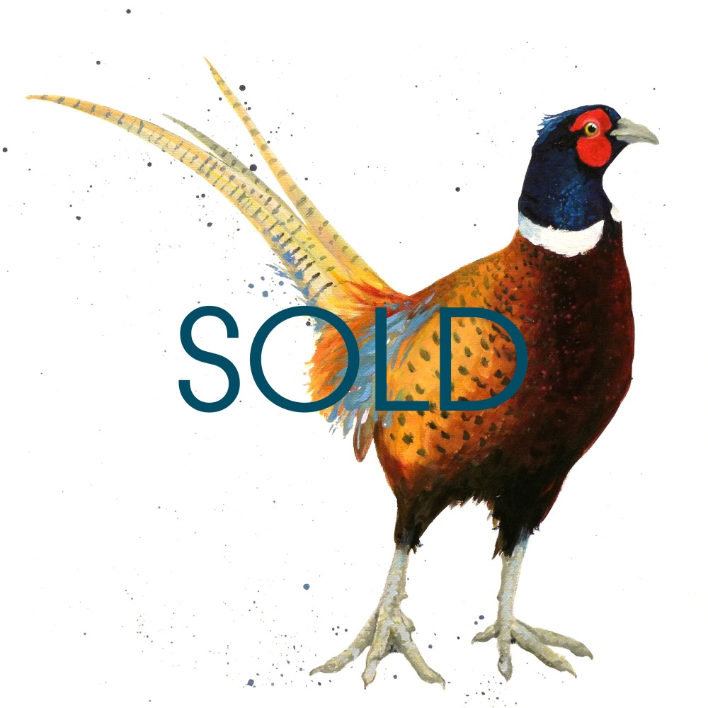 SOLD- Finest Pheasant Original Canvas