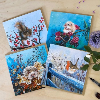 Winter Wildlife Christmas/Seasonal Cards (8) MULTIPACK