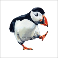 PACING PUFFIN PRINT