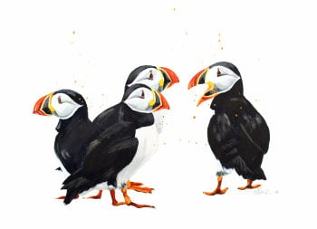Puffin Party PRINT
