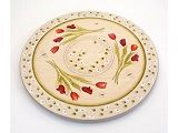 Country painted crafts Tulip Lazy Susan