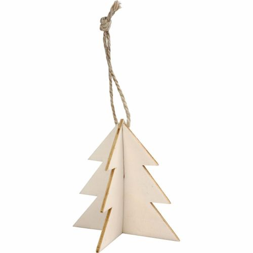 3D Wooden Christmas Tree, 7.5cm