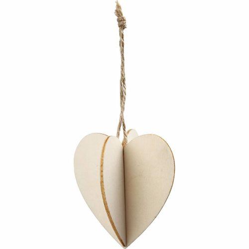 3D Wooden Heart, 7.5cm