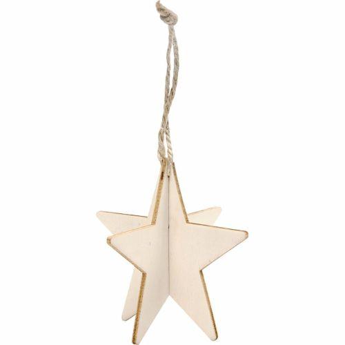 3D Wooden Star, 7.5cm
