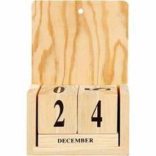 Calendar with Date Cubes, 13x5,5x19,2 cm, poplar