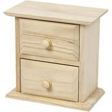 Chest of Drawers, 13x7,5x13 cm, Empress Tree