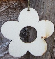 Flower, small wooden hanging blank