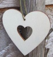 Heart small wooden hanging blank