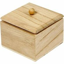 Mini Box with lid, 6x6x5 cm, Empress Tree