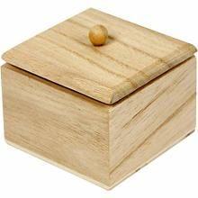 Mini Box with lid, 6x6x5 cm, Empress Tree