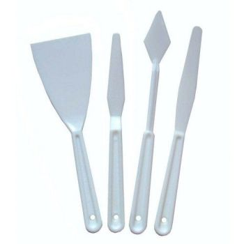 Major Brushes Palette Knife/Filler Set, 4 Pieces