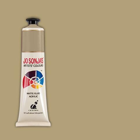 PALE GOLD - Jo Sonja 75ml Artist Quality Acryllic Paint - Metallics