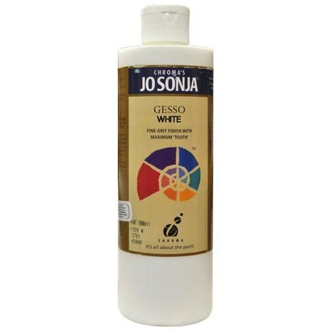 GESSO - WHITE - JO SONJA MEDIUM 237ml BOTTLES