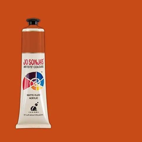 Norwegian Orange - Jo Sonja 75ml Artist Quality Acryllic Paint - Series 1