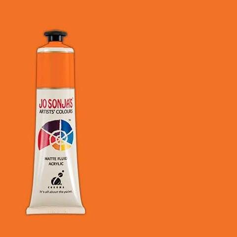 PYRROLE ORANGE - Jo Sonja 75ml Artist Quality Acryllic Paint - Series 2