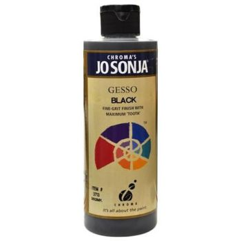 GESSO - BLACK - JO SONJA MEDIUM 237ml BOTTLES