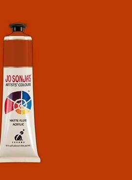 PYRROLE RED ORANGE - Jo Sonja 75ml Artist Quality Acryllic Paint - Series 2