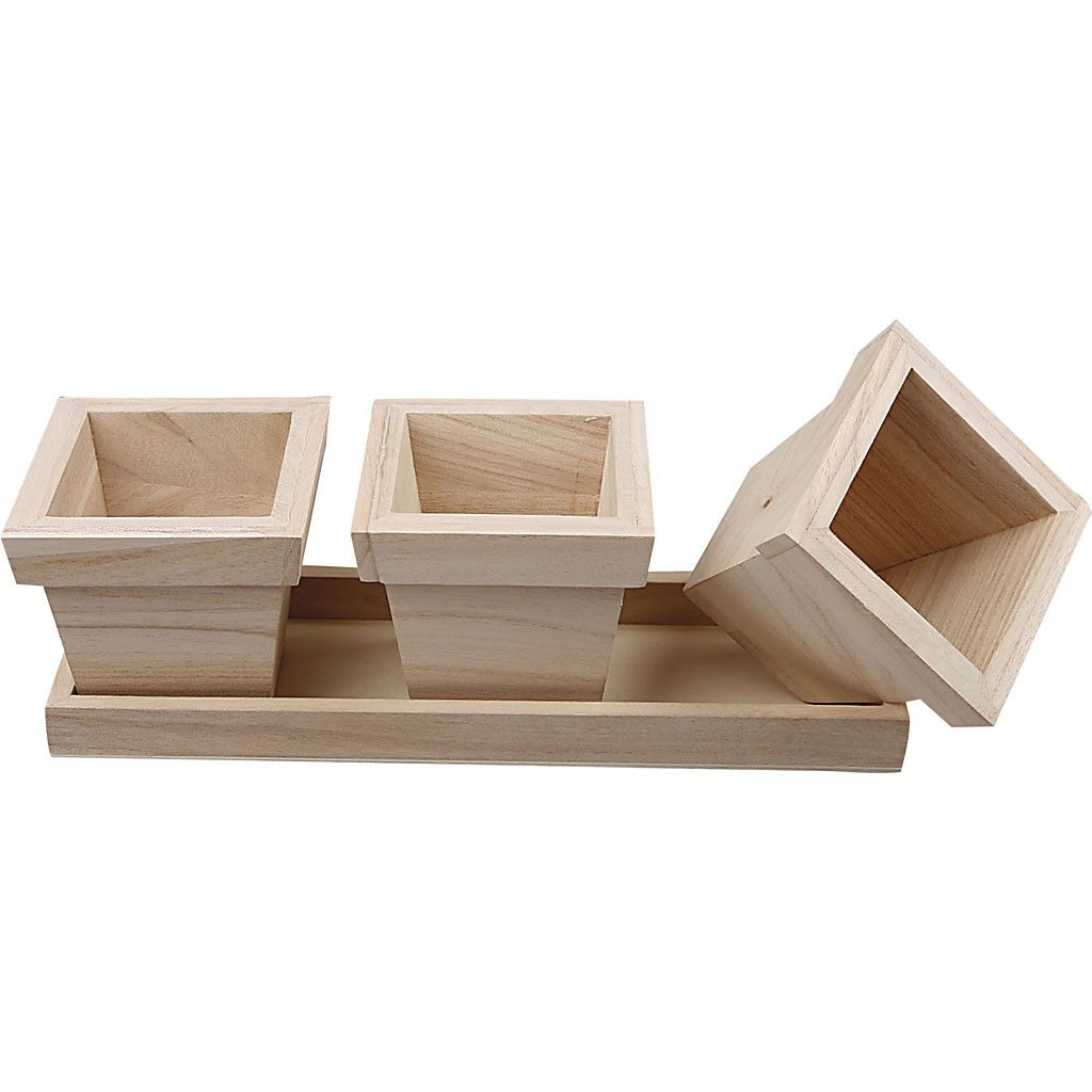 Flower Pot Set, size 27x9x9 cm,
