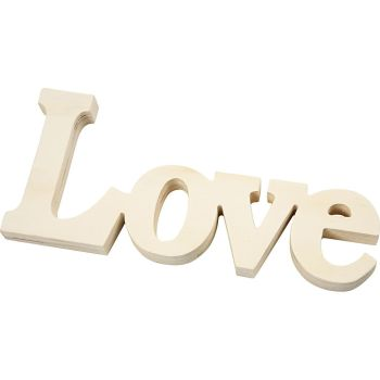 Decoration Word, Love, size 23x10 cm, thickness 15 mm, plywood, 1pc