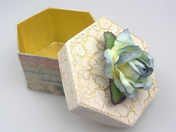 decorated boxes - napkin art 1