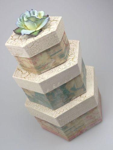 decorated boxes - napkin art