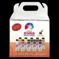 Jo Sonja Matte Flow Acrylic 10 Tube Palette Sample Set