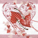 Cherry Hearts, 33 x 33cm   (20a)