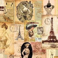 Madame a Paris, 25 x 25cm   (45b)