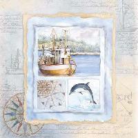 Maritime Card, 25 x 25cm   (51b)