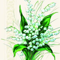 Sweet White Bells, 25 x 25cm   (53b)